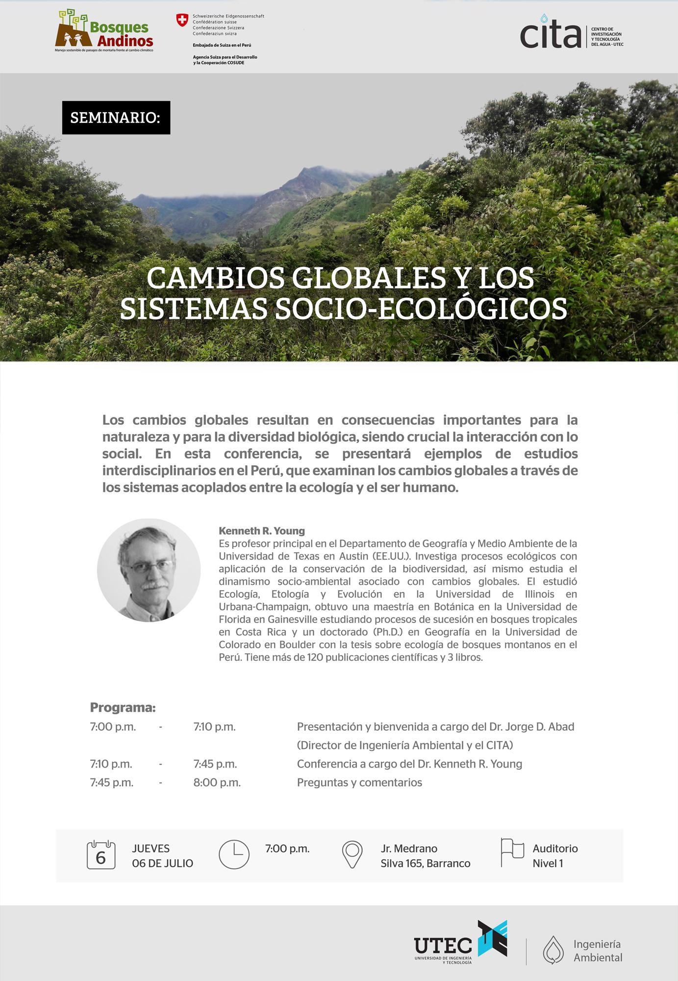 Seminario: «Cambios globales y los sistemas socio-ecológicos»