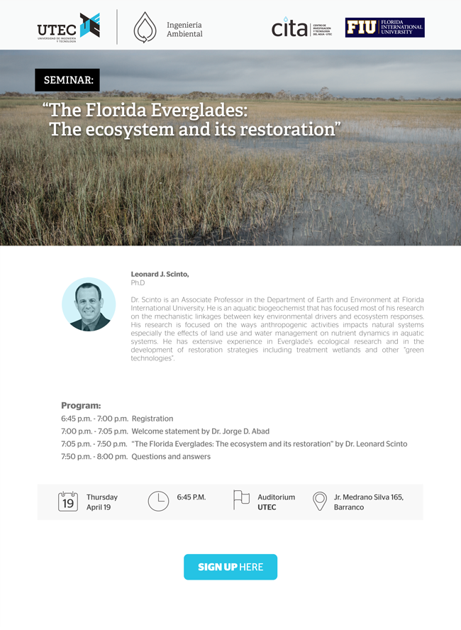 Seminario: «The Florida Everglades: The ecosystem and its restoration»