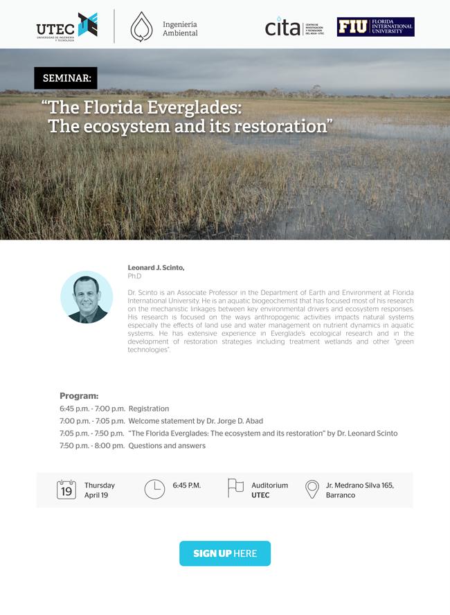 Seminario: «The Florida Everglades: The ecosystem and its restoration»
