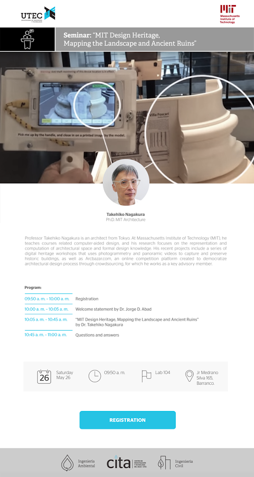 Seminario: «MIT Design Heritage: Mapping the Landscape and Ancient Ruins»