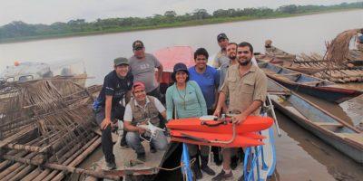 Campaña de mediciones hidrogeomorfológicas en ríos amazónicos