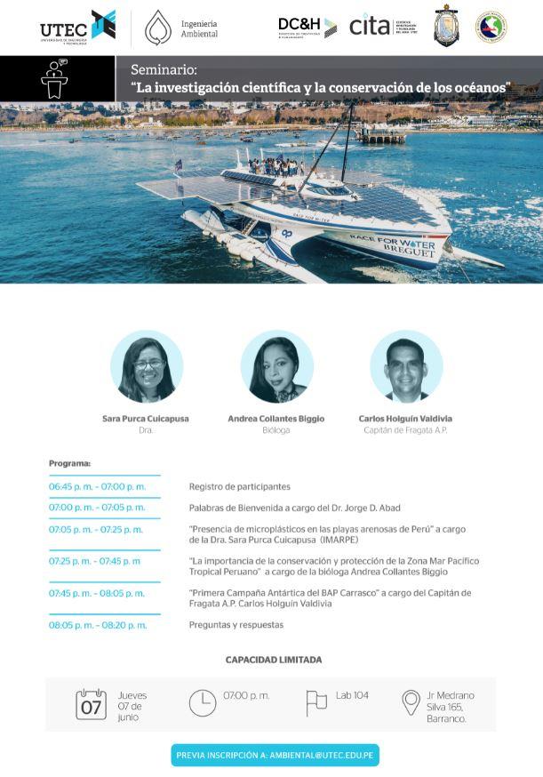 Seminario: «La investigación científica y la conservación de los océanos»