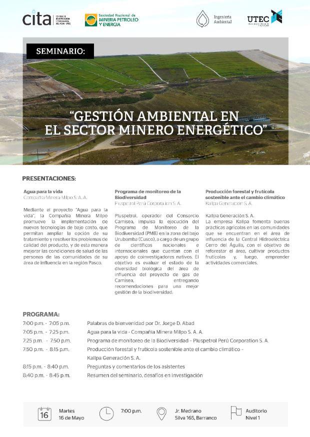Seminario: «Gestión ambiental en el sector energético»